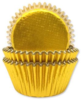 45 Caissettes cupcakes dorées