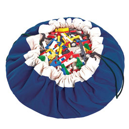 Sac de rangement et tapis de jeu couleur bleu cobalt Play and go