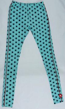 legging fond bleu turquoise étoiles vert foncé Kik kid