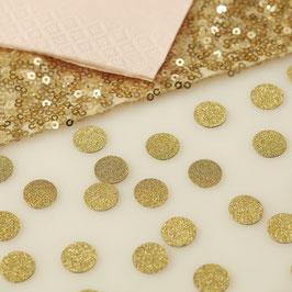 Confettis de table en carton dorés