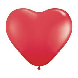 10 ballons coeurs rouges en latex