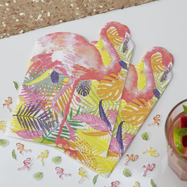 20 serviettes en papier décoration flamant rose