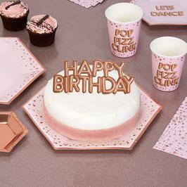 """Décoration gateau """"Happy birthday"""" imprimé"""