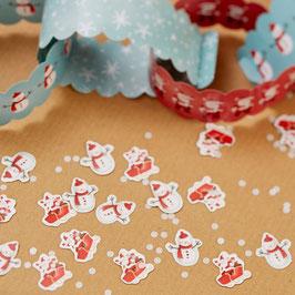 confettis de table pere noel et bonhomme de neige