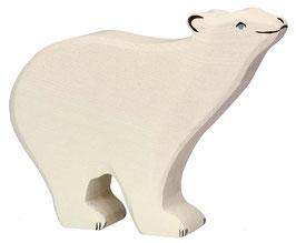 Ours polaire en bois Holztiger