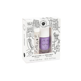Coffret New York rollette coco et vernis parme Kanako Nailmatic kids