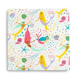 16 serviettes thème Sirène