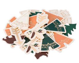 100 Confettis Indiens, Animaux de la Forêt