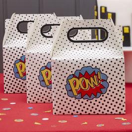 """Pack de 5 boites super héros """"Pow"""""""