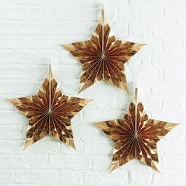 3 rosaces étoiles dorées