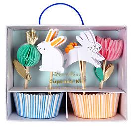 Kit cupcakes et cake toppers lapins meri meri