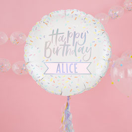 Ballon Happy Birthday Pastel à Personnaliser