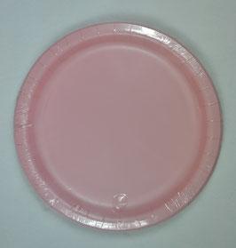 8 grandes assiettes en carton rose pastel