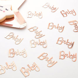 Confettis de table Baby Rose Gold
