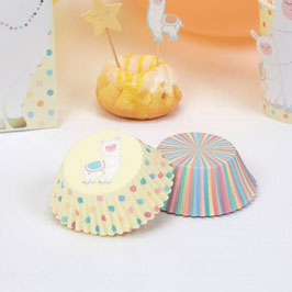 100 Caissettes Cupcakes Pois Rayures Pastels
