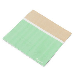 20 grandes serviettes vert menthe beige blanc