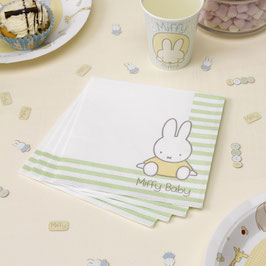 20 serviettes en papier anniversaire Miffy