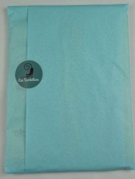 Emballage cadeau papier de soie couleur bleu arctique