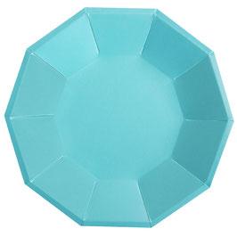 10 Grandes assiettes bleues nacrées