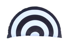 Coussin arc en ciel monochrome noir et blanc