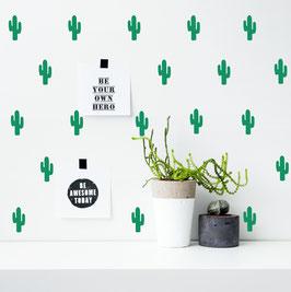 Stickers muraux cactus verts Pom le bonhomme