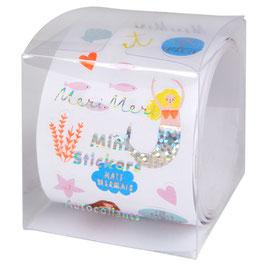 Rouleau de mini stickers anniversaire Sirène Meri Meri