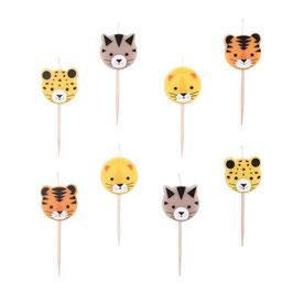 8 bougies animaux de la jungle my little day