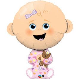 """Ballon Bébé Fille """"Baby Girl"""" en Aluminium"""