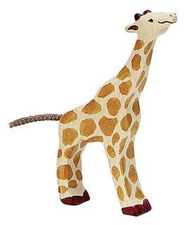 Petite Girafe tête haute en bois Holztiger