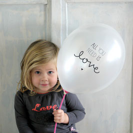 "Pack de ballons ""all you need is love"" A little Lovely Company"