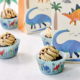 "30 Caissettes cupcakes dinosaures ""Roaar"""