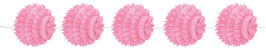 Guirlande 5 boules papier rose pastel 1.5m longueur