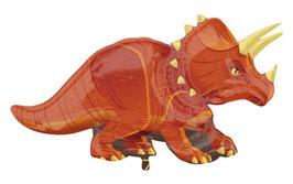 Ballon métallique dinosaure Triceratops 106cmsX60cms