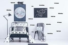 Stickers muraux demi cercles noirs Pom le bonhomme