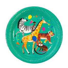 """8 grandes assiettes """"la fête des animaux de la jungle"""""""