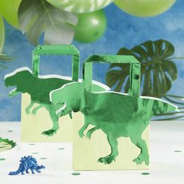 5 Sacs Cadeaux Dinosaures Verts