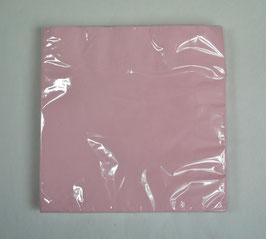 20 serviettes en papier rose pastel