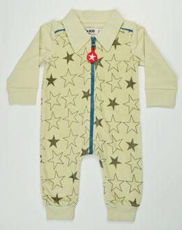 Combinaison étoiles en velours écru Kik Kid