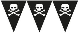 Guirlande fanions tête de mort pour anniversaire Pirate