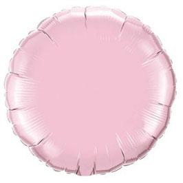 Ballon métallique rond rose pastel