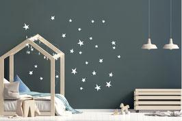 Stickers muraux étoiles blanches Pom le bonhomme