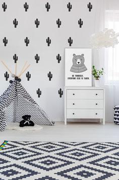 Stickers muraux cactus noirs Pom le bonhomme