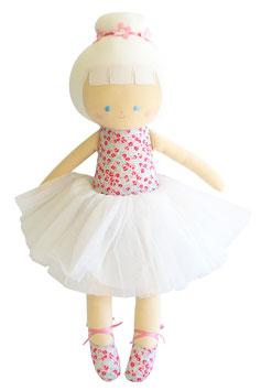 Grande poupée fleurs Liberty roses Alimrose 50 cms
