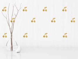 Stickers muraux cerises dorées Pom le bonhomme