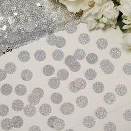Confettis en carton argent