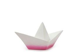 Lampe veilleuse bateau origami dégradée rose et blanc Goodnight light