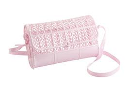 Sac à bandoulière retro plastique rose clair