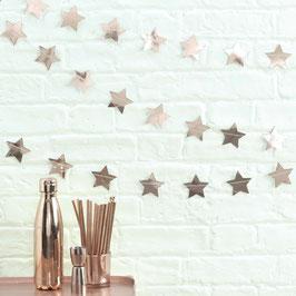 Guirlande étoiles rose doré 5 mètres