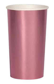 8 grands gobelets roses métallisés meri meri