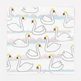 16 grandes serviettes cygne irisé my little day